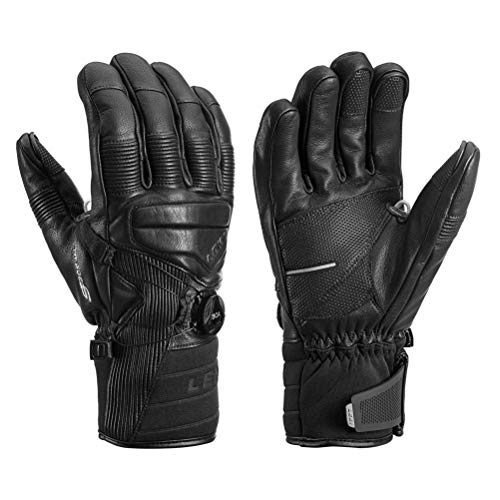 LEKI Progressive Tune Leather Boa MF Touch Glove - Men's Black, 10