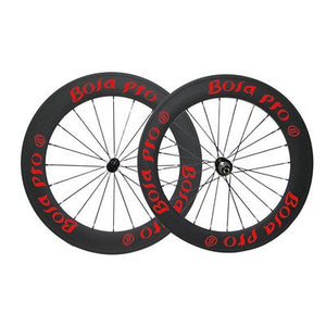 Bola Pro carbon bike wheelset,240℃ High TG ceramic braking surface,+/-0.2mm offset,Two Year Warranty,700C 60mm high 25mm wide Clincher carbon rim with DT Swiss 350s hub and Sapim Cx ray 20/24 spoke
