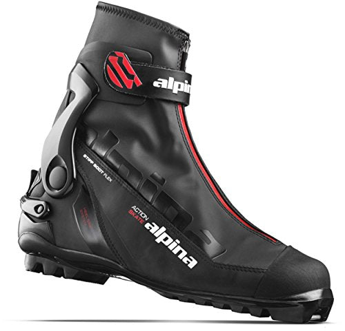Alpina Sports Ask Skate Cross Country Skate Ski Boots, Euro 43, Black/Red