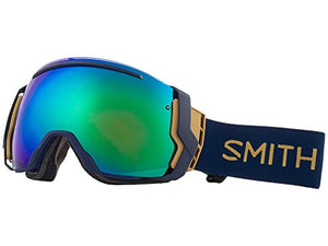 Smith Optics Adult I/O 7 Snowmobile Goggles Navy Camo Split/ChromaPop Sun Green Mirror