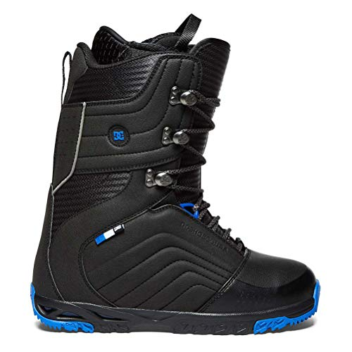 DC Men's Scendent Lace Up Snowboard Boots, Black/Blue, 10