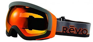 Revo Unisex RG 7000 Capsul Ski & Snowboard Sport Polarized UV Protection Goggles, Gray/Orange Frame, Solar Orange Lens