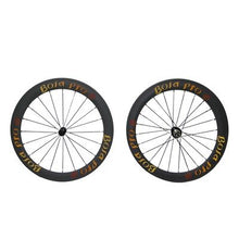 Load image into Gallery viewer, UCI approved Bola Pro carbon bike wheelset,240℃ High TG ceramic braking surface,+/-0.2mm offset,Two Year Warranty,700C 50mm high 25mm wide clincher carbon rim enduro ceramic bearing hub & Sapim Cx ray