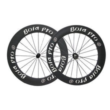Load image into Gallery viewer, Bola Pro carbon bike wheelset,240℃ High TG ceramic braking surface,+/-0.2mm offset,Two Year Warranty,700C 60mm high 25mm wide Clincher carbon rim with DT Swiss 350s hub and Sapim Cx ray 20/24 spoke