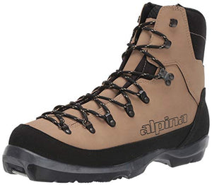 Alpina Sports Montana Backcountry Cross Country Nordic Ski Boots, Brown/Black, Euro 44
