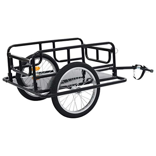 WWZ Bike Cargo Trailer 130x73x48.5 cm Steel Black