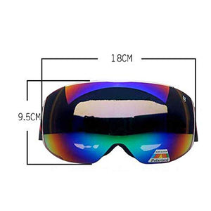 Ping Bu Qing Yun Ski goggles - TPU, interchangeable lenses, adjustable stretch headband, day and night, can be brought into myopia, universal outdoor skiing and mountaineering impact goggles for men a