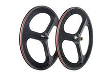 Load image into Gallery viewer, Superteam 70mm Carbon Three Tri-Spoke Wheelset 700c Road Bike Clincher Wheel