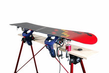 Load image into Gallery viewer, Tools4Boards Lasso Ski and Snowboard Vise, Red/Silver/Black