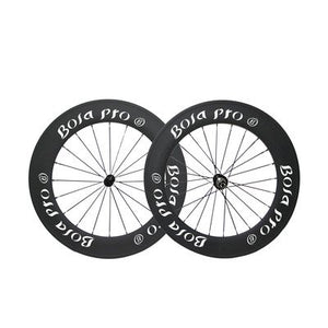 Bola Pro carbon bike wheelset,+/-0.2mm offset,Two Year Warranty, 700C 88mm high 25mm wide tubular carbon rim with DT Swiss 240 hub and Sapim Cx ray 20/24 spoke