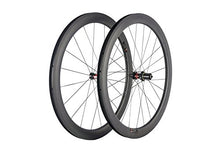 Load image into Gallery viewer, Queen Bike OEM 1 pair of 50mm carbon Tubeless wheelset 700C road bike wheels UD matte finish Tubeless