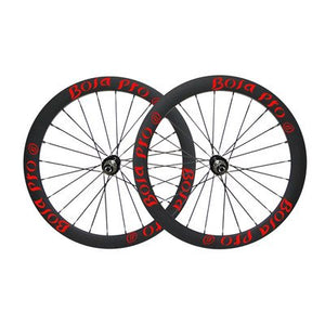 Bola Pro carbon bike wheelset,+/-0.2mm offset,Two Year Warranty,700C 45mm high 25mm wide tubular carbon rim with road disc brake hub and Sapim Cx ray 24/24 spoke for grave