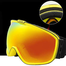 Load image into Gallery viewer, Ping Bu Qing Yun Ski goggles -TPU/PC, enhanced anti-fog, anti-UV, elastic adjustable headband, can be brought into myopia, adult unisex large spherical anti-polarization outdoor climbing ski goggles S