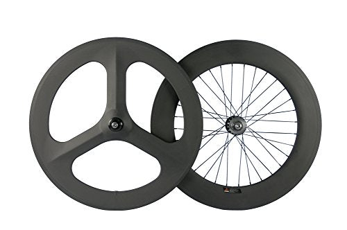 Superteam 3Spokes Fixed wheelset 700C Clincher 17Cogs
