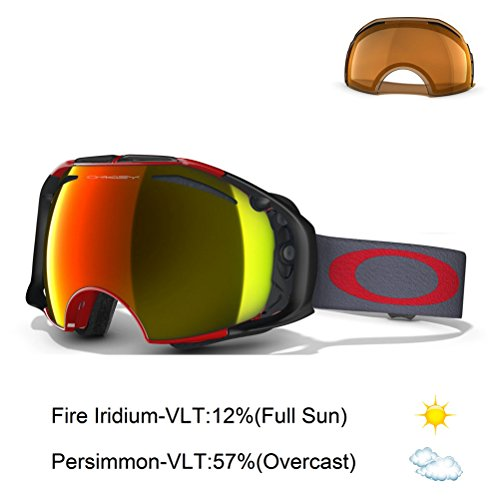 Oakley Airbrake Goggle Viper Red Fire Iridium Persimmon