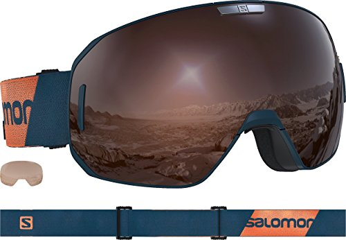 SALOMON S/Max Access Ski Goggles, Moroccan Blue/Solar Mirror/Tonic Orange