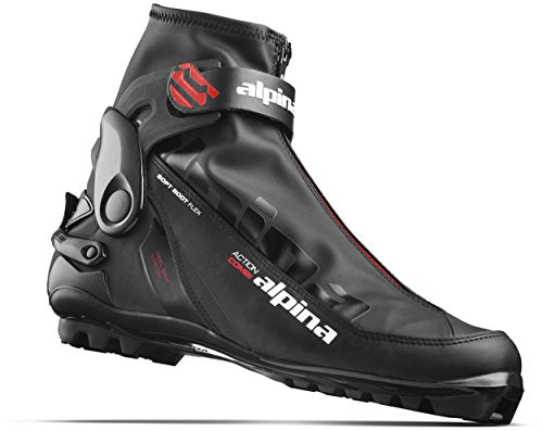 Alpina Sports A Combi Cross Country Skate Classic Cross Country Ski Boots, Euro 49, Black/Red