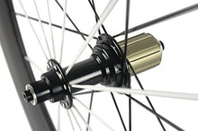 Load image into Gallery viewer, SunRise Bike 80mm Carbon Alloy Braking Surface Wheel 23mm Clincher 700c Wheelset