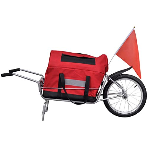 Sporting Goods Outdoor Recreation Cycling Bicycle Accessories Bicycle Trailers Bicycle Cargo Trailer One-Wheel with Storage Bag