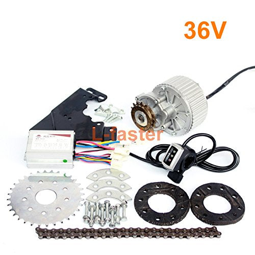 L-faster 450W Newest Electric Bike Left Drive Conversion Kit Can Fit Most of Common Bicycle Use Spoke Sprocket Chain Drive for City Bike(36V Thumb Kit)