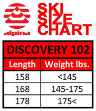Load image into Gallery viewer, Alpina Sports Discovery 102 Skis, Red, 168cm