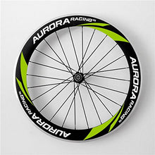 Load image into Gallery viewer, Aurora Racing 60mm deep 20.5mm Width Clincher Triathlons/time Trials Aero Carbon Fiber Wheelset Straight Pull Hub 20/24 Holes
