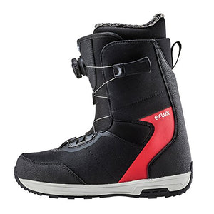 Flux Bindings GTO-Boa Mens Snowboard Boots 2017/18 Model, Black/Red, 6