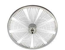 "Load image into Gallery viewer, Lowrider 20"" Front Bicycle Fan Wheel 144 Spoke Chrome Cruiser Chopper Bike"