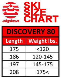Alpina Sports Discovery 80 Skis, Red, 186cm