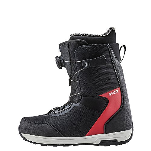 Flux Bindings GTO-Boa Mens Snowboard Boots 2017/18 Model, Black/Red, 10