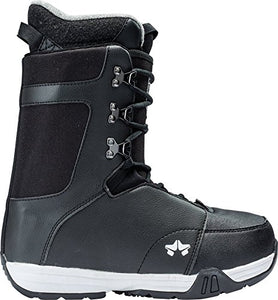 Rome Snowboards Men's Sentry Lace Snowboard Boots, Black, Size 7
