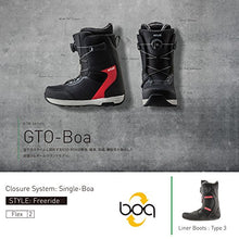 Load image into Gallery viewer, Flux Bindings GTO-Boa Mens Snowboard Boots 2017/18 Model, Navy, 8