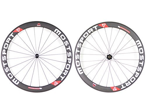 MOSTSPOR 50mm Tubular Carbon Wheels DT350 Hubs Sapim Cx-ray Spokes