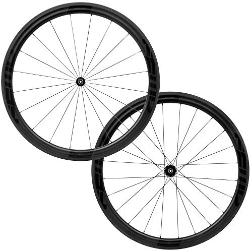 FFWD Wheels | F4R FCC DT350 | 45mm Tubeless Carbon Clincher Wheel Set DT Swiss 11 Speed Black