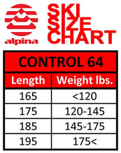 Load image into Gallery viewer, Alpina Sports Control 64 Skis with NNN Auto Tour Binding, Red, 185cm