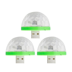 ( buy two get one for free) USB Mini Mushroom Colorful Light for Party、Car