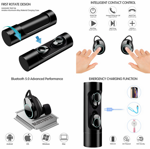 Mini waterproof wireless earphone