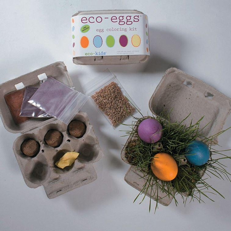 Easter egg coloring & grass growing kit, non toxic