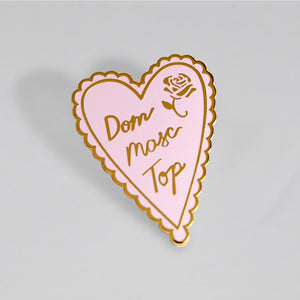 Dom Masc Top Pin - The Gay Bar Shop