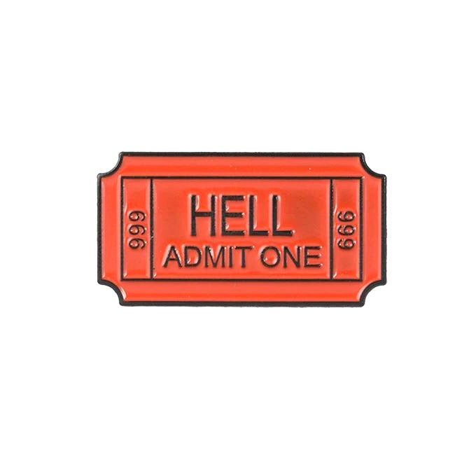 Ticket To Hell Pin - The Gay Bar Shop