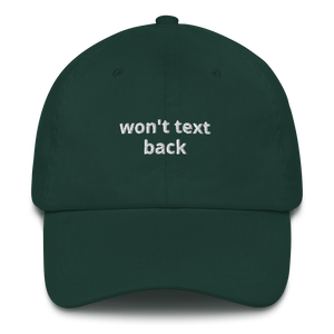 Won't Text Back Dad hat - The Gay Bar Shop