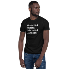 Load image into Gallery viewer, Vaccine Tee Black - The Gay Bar Shop