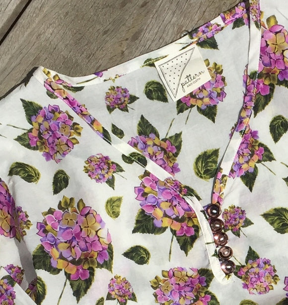 girls dresses nz. Aruba kaftan beach dress for girls in summer floral fabric