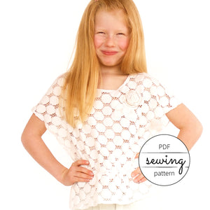 todder sewing patterns for beginners - the milkweed top by pattern and cloth