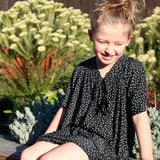 girls dress patterns for special occasions the rosetta dress by pattern and cloth black spot fabric
