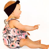 baby romper pattern in retro fabric by Pattern and Cloth