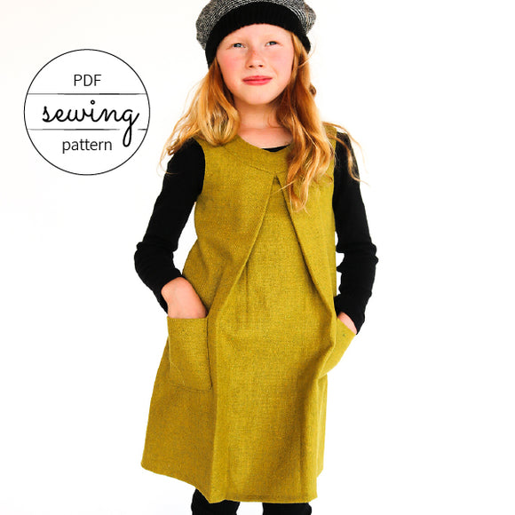 toddler dress patterns sunday dress by pattern and cloth winter version