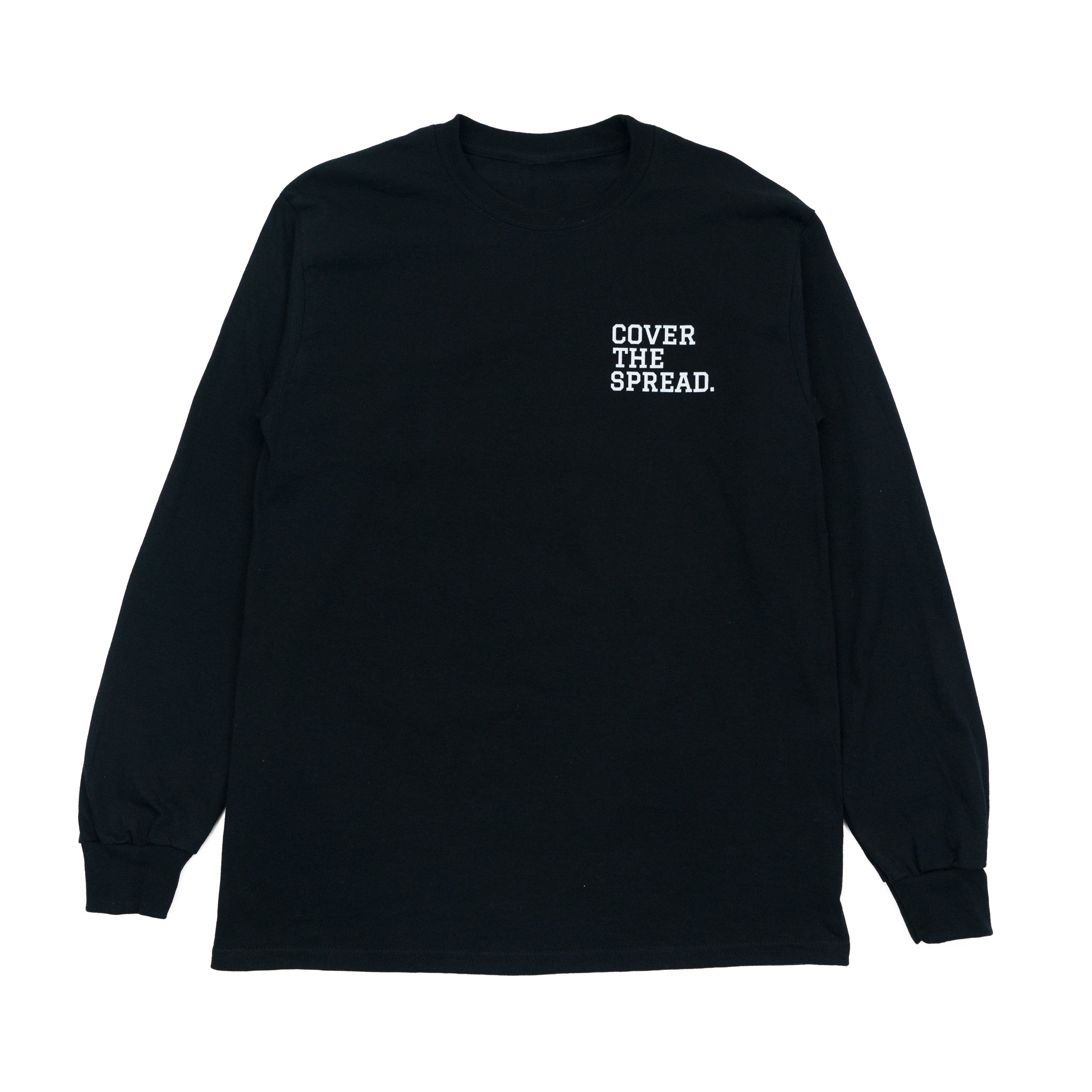 cover the spread mens long sleeve tee