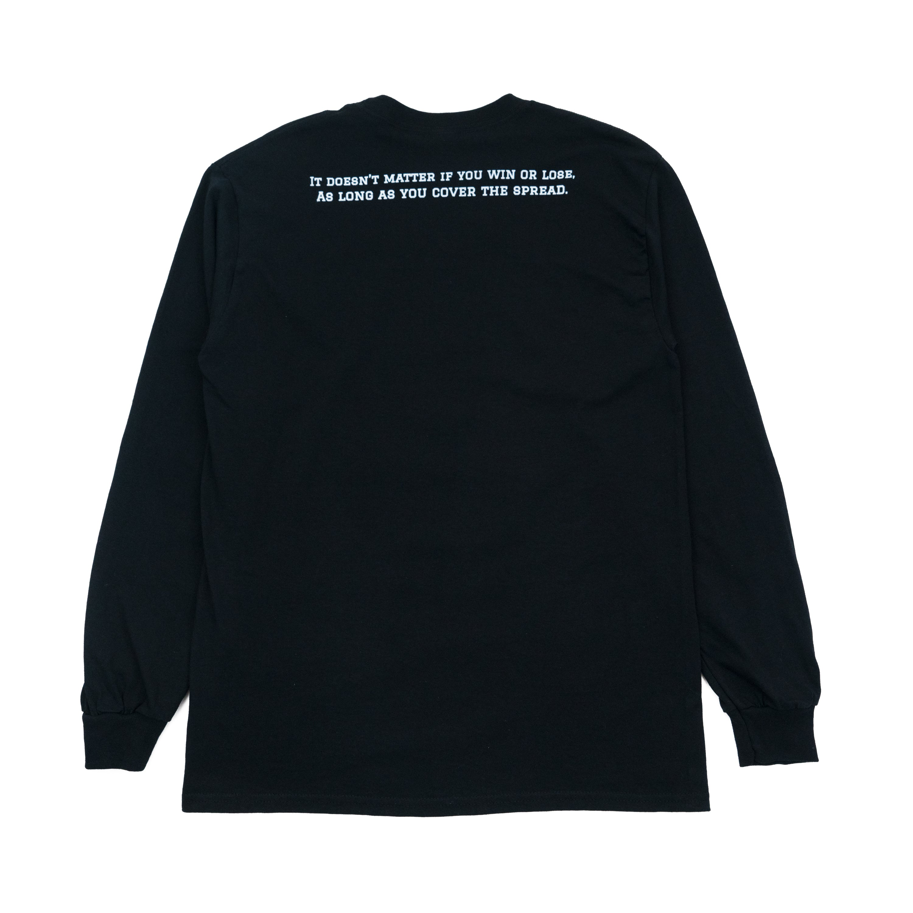 cover the spread long sleeve tee