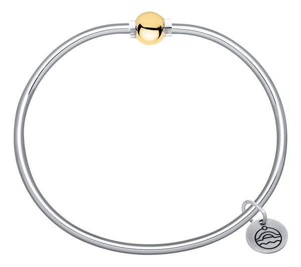 Cape Code Screwball Bracelet - Sterling Silver with 14K Gold Ball